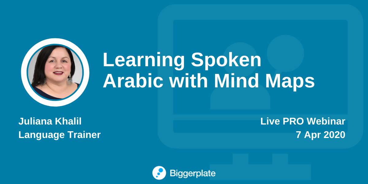 Learning Spoken Arabic with Mind Maps
