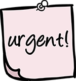 Urgent post in note