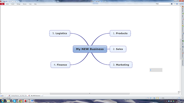 Add main topic branches to your mindmap