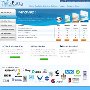 ThinkBuzan.com screen shot