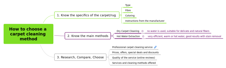 How to choose a carpet cleaning method