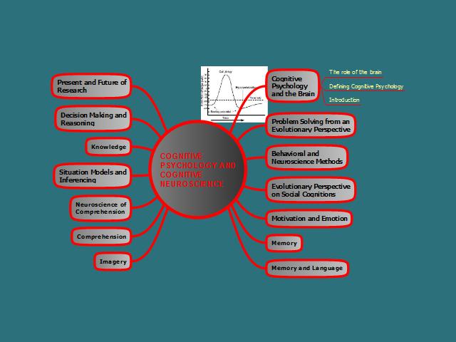 cognitive psychology cognitive psychology and cognitive neuroscience mind map