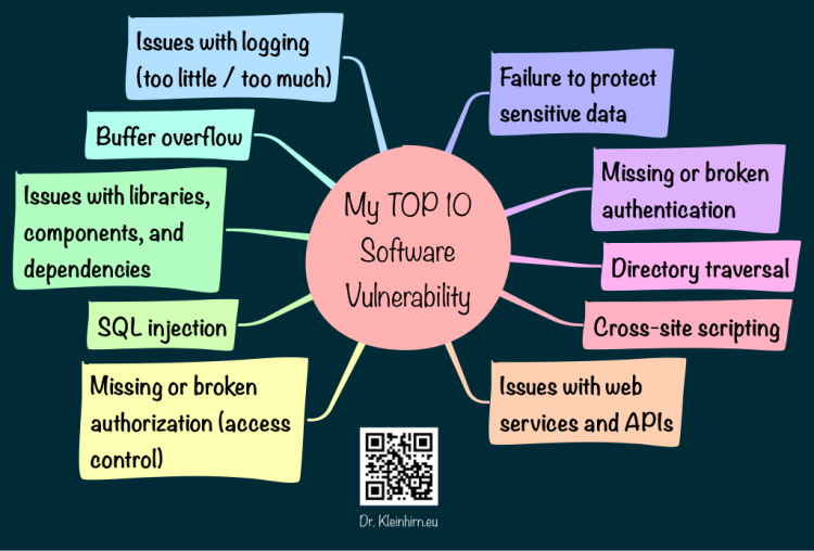 My TOP 10 Software Vulnerability