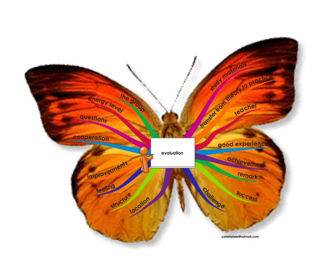butterfly mindmap evaluation english