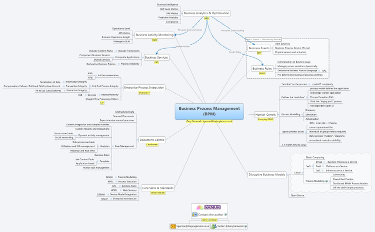 Business Process Management (BPM): XMind Mind Map Template