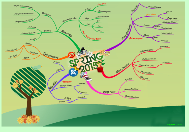 Spring 2015 Mindmap : Winning map of iMindMap Spring Competition 2015
