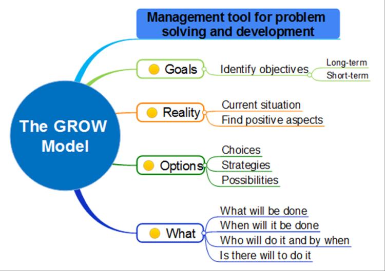 grow coaching template - the grow model mindmapper mind map template biggerplate
