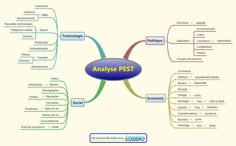 analyse pest mind map