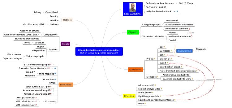 profil cv  xmind mind map template