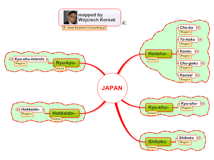 Japan Map Regions.Japan Regions Mindmanager Mind Map Template Biggerplate