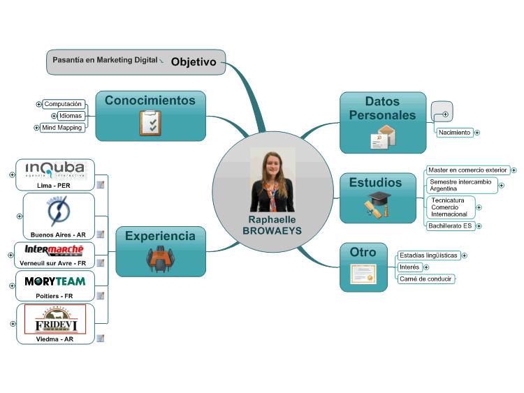 como hacer un cv en mapa mental  mindmanager mind map template