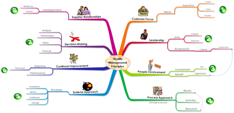 Imindmap Eight Quality Management Principles Mind Map
