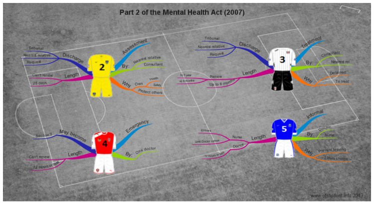 Sections of Part 2 of The Mental Health Act (2007)