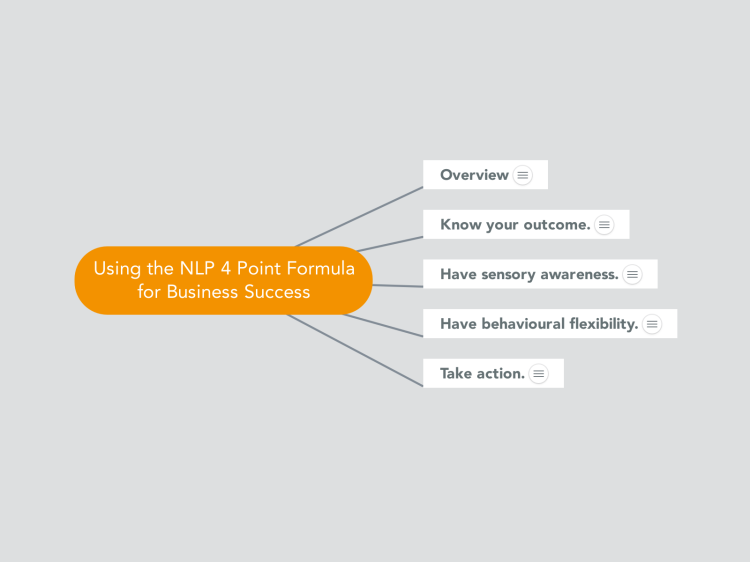 Using the NLP 4 Point Formula for Business Success