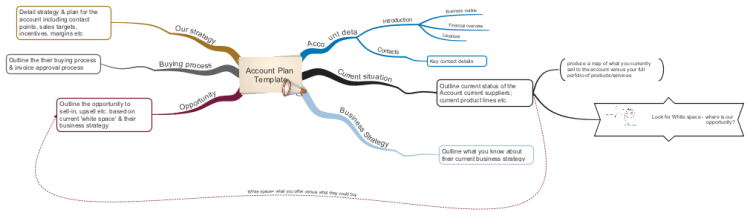 Account Plan Template mind map – Account Plan Template